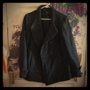 Black/charcoal pea coat